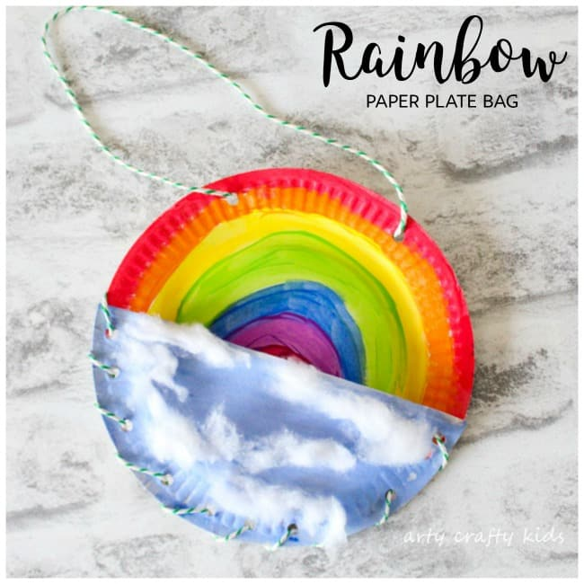 Rainbow Paper Plate Bag Arty Crafty Kids