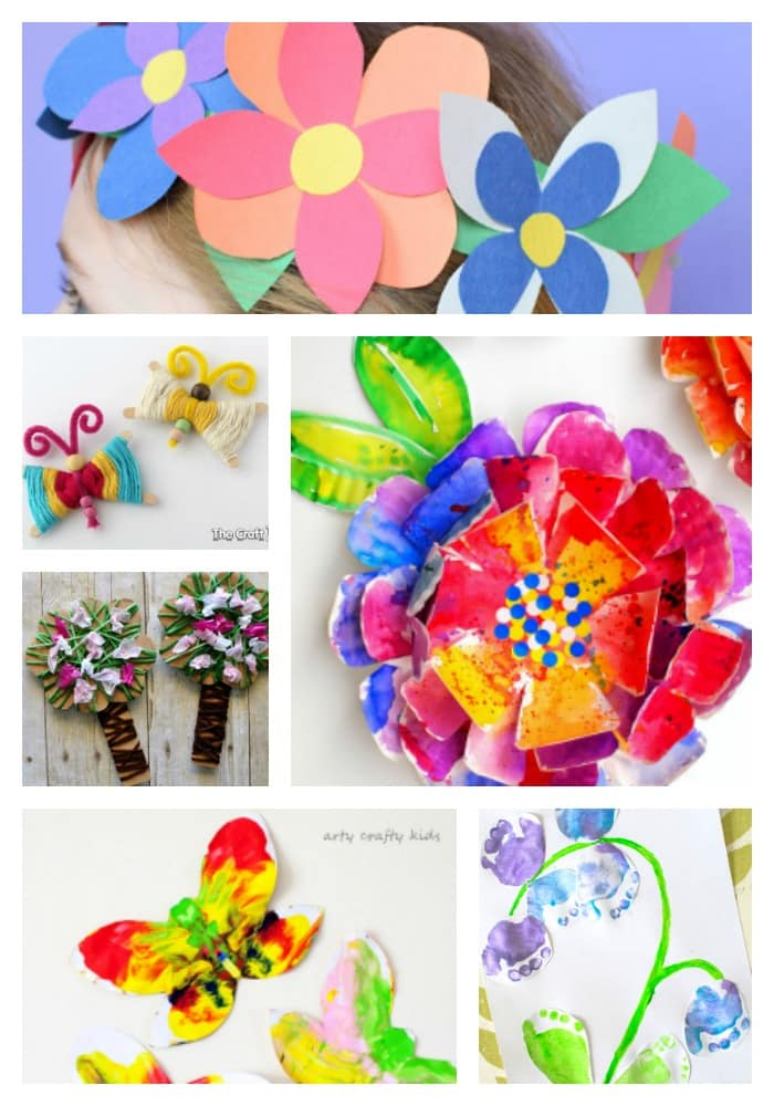 25 Spring Crafts for Kids | Discover a gorgeous collection of easy and fun Spring crafts for kids!