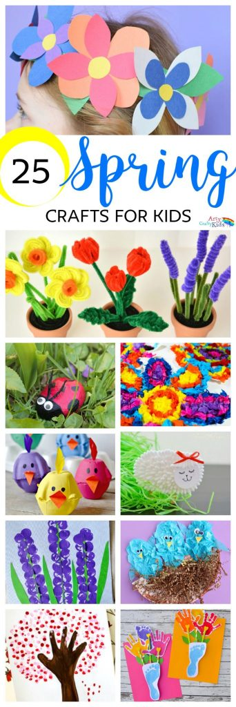 Easy Spring Crafts For Kids Arty Crafty Kids Springtime Crafty Fun