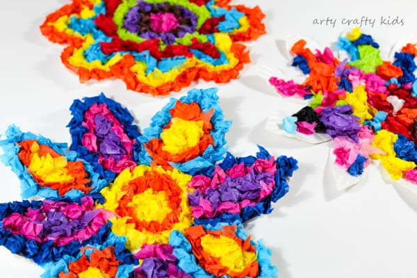 Colourful Spring Paper Plate Flower Craft Arty Crafty Kids