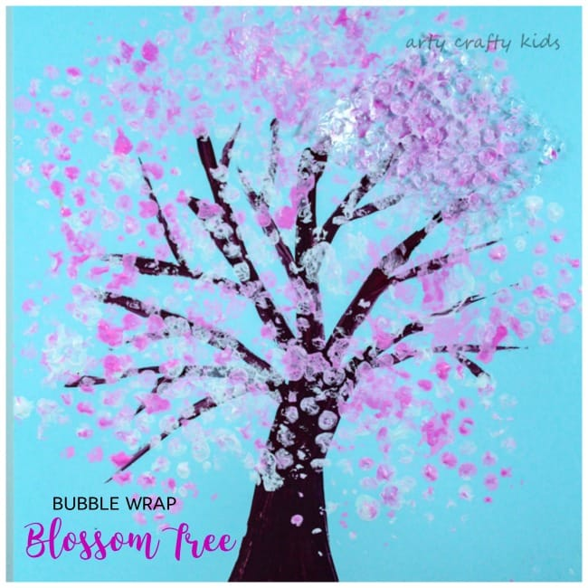 Bubble Wrap Spring Blossom Tree Arty Crafty Kids