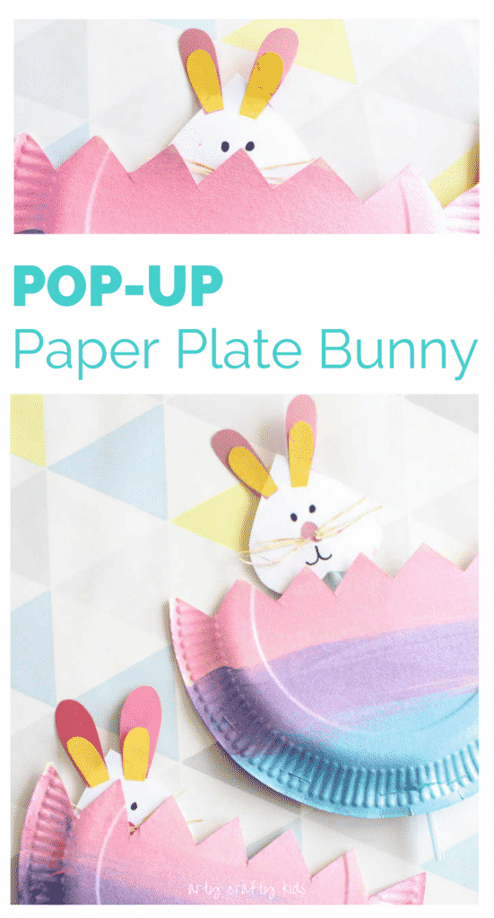 Arty Crafty Kids   Craft   Easter   Pop Up Paper Plate Bunny   A fun and easy Easter craft for kids!