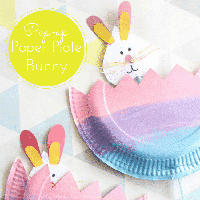 easy paper bunny craft pop up paper plate bunny arty crafty 4371