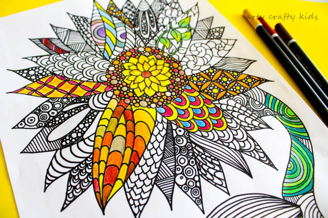 Sunflower Coloring Page | Arty Crafty Kids