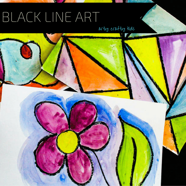 Arty Crafty Kids | Art | Black Line Exploration Art