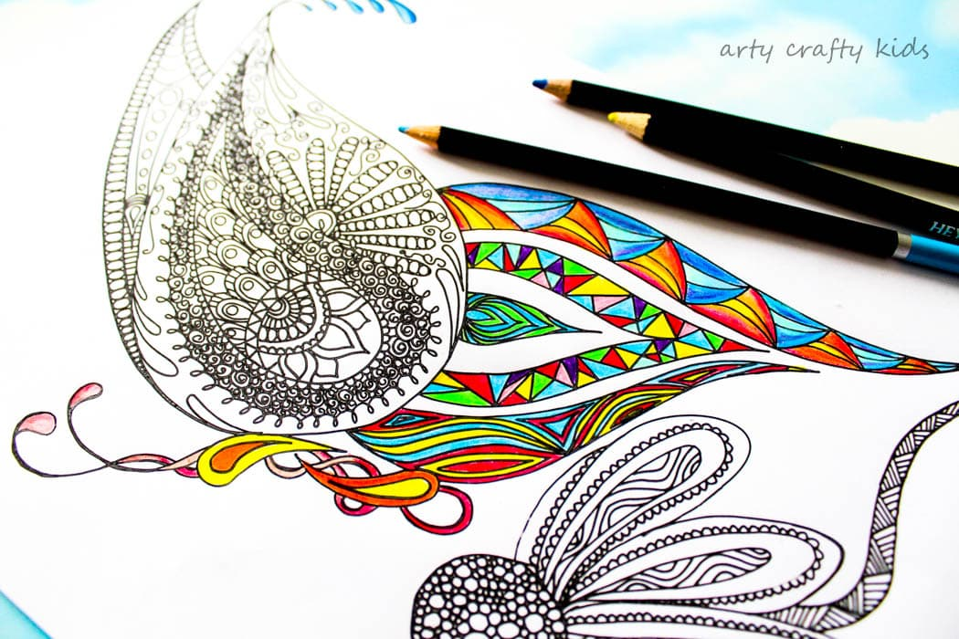 Arty Crafty Kids | Free Coloring Page | Detailed Butterfly Coloring Page