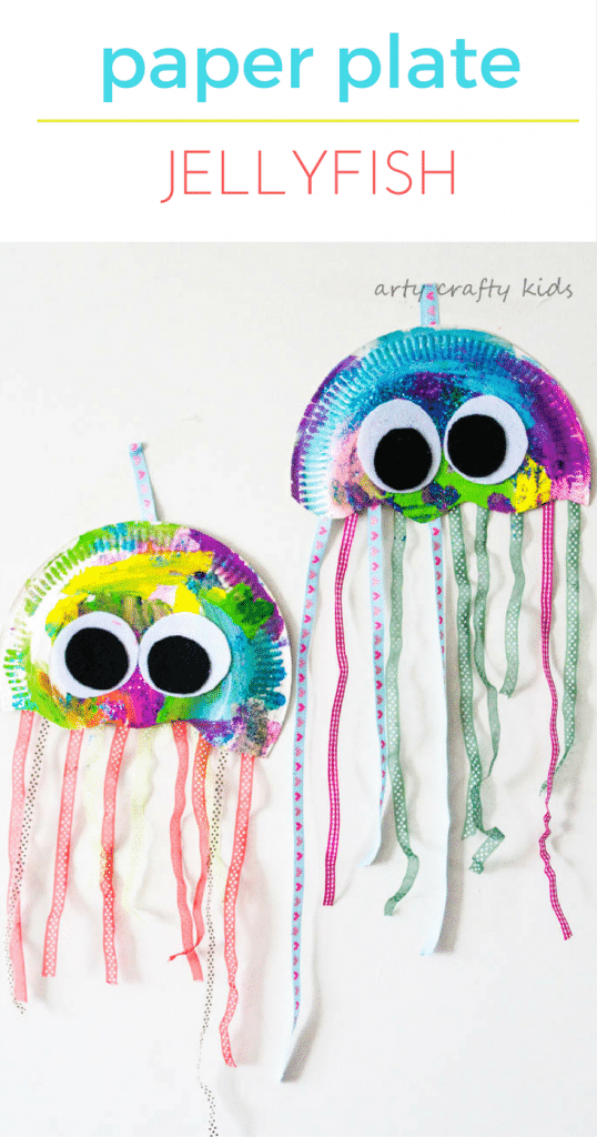 Arty Crafty Kids | Craft | Paper Plate Jellyfish Craft | Easy Jellyfish craft for kids u2013 perfect for an under the sea theme at school or preschool!  sc 1 st  Arty Crafty Kids & Arty Crafty Kids | Craft | Paper Plate Jellyfish Craft | Easy ...
