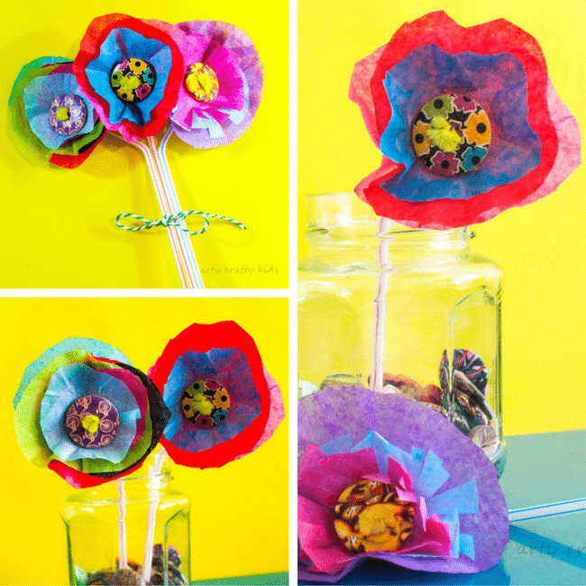 3d Tissue Paper Flower Arty Crafty Kids