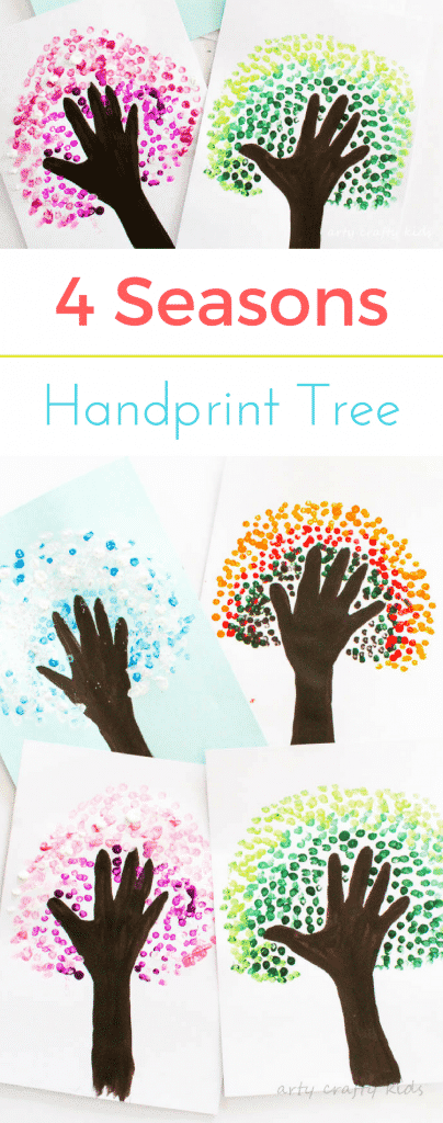 Four Season Handprint Tree | Arty Crafty Kids