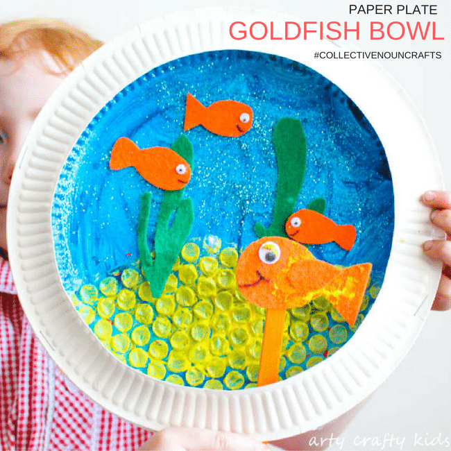 Paper plate goldfish bowl craft arty crafty kids for How to make a fish bowl