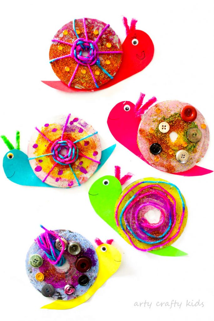 Easy CD Snail Craft