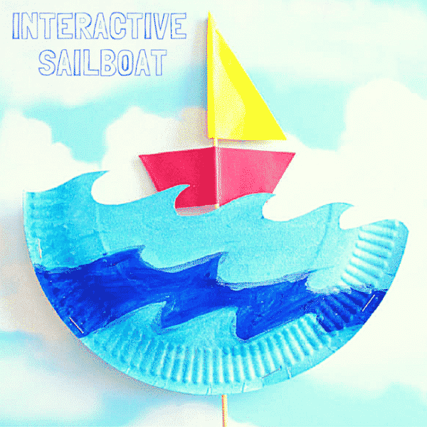Interactive Paper Plate Sailboat