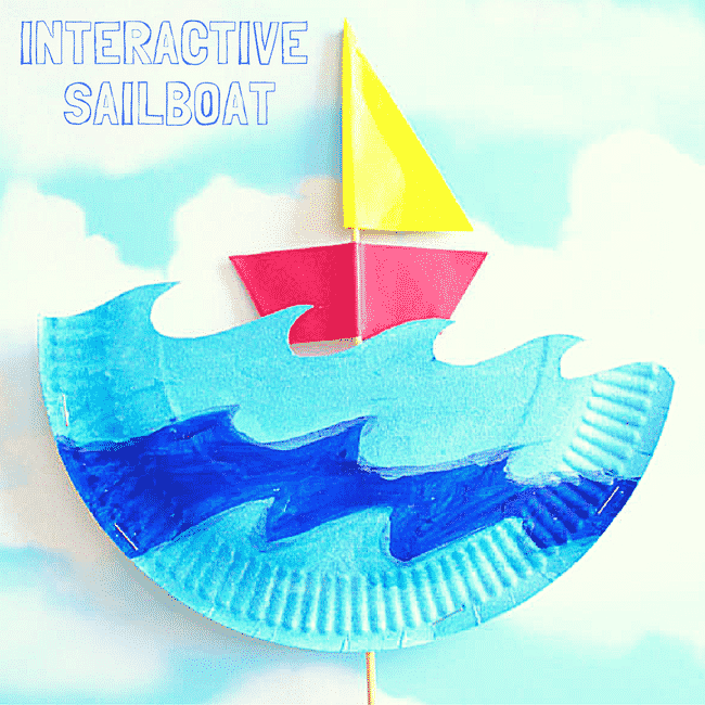 interactive paper plate sailboat arty crafty kids
