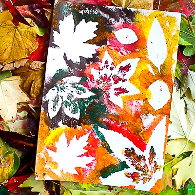Arty Crafty Kids | Art Ideas for Kids | Autumn Leaf Painting - exploring basic colour-mixing principles to create Autumn shades and hues #autumnart #artforkids #kidsart