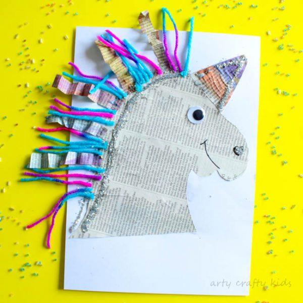 Mixed Media Paper Unicorn Craft