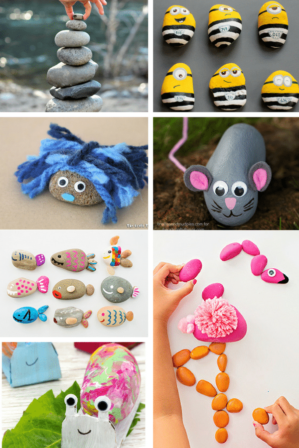 Arty Crafty Kids | Craft | Creative Rock Crafts for Kids | Create rock pets, rock puzzles, rock art and much much more with this gorgeous collection of 26 Rock Crafts for Kids!