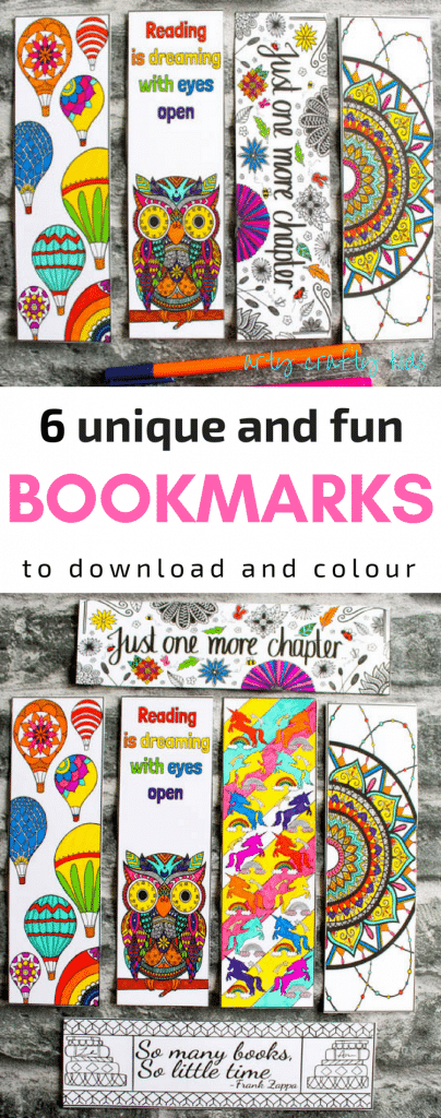 Beautiful Coloring Bookmarks