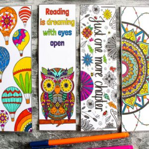Arty Crafty Kids | Coloring Pages | Beautiful Coloring Bookmarks | 6 Beautiful Coloring Bookmarks for adults to download and color