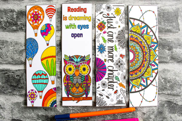 pack of four coloring bookmarks arty crafty kids