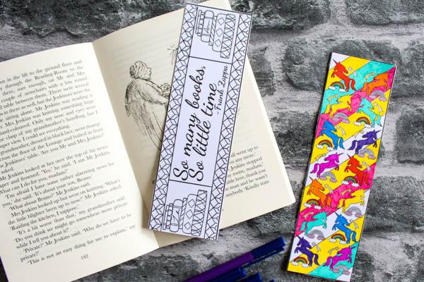 Beautiful Coloring Bookmarks