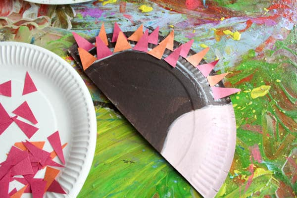 Arty Crafty Kids   Craft   Paper Plate Hedgehog Craft   Super cute Hedgehog craft for kids. Perfect for Autumn crafting and woodland animal topic at preschool. #animalcraft #kidscraft
