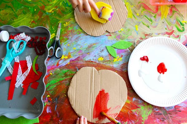 Easy Apple Collage Craft Arty Crafty Kids