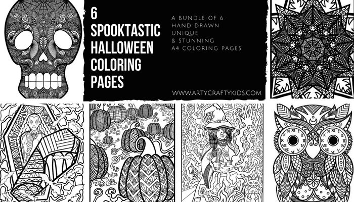 Arty Crafty Kids | Coloring Pages | Spooktastic Halloween Coloring Collection for Adults and Kids