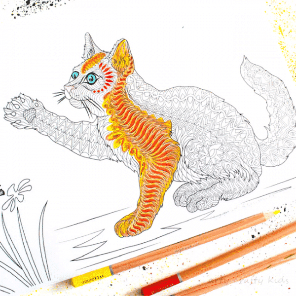 Arty Crafty Kids | Colorin Pages | Free Cat Coloring Page for Adults