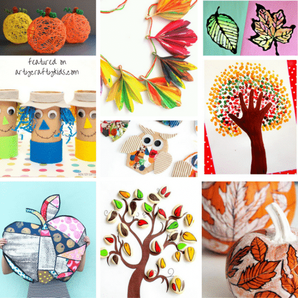 autumn craft ideas kids creative fall crafts for arty crafty 3396