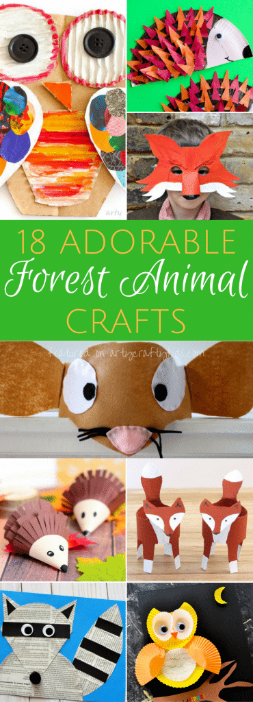 Adorable Forest Animal Crafts Arty Crafty Kids