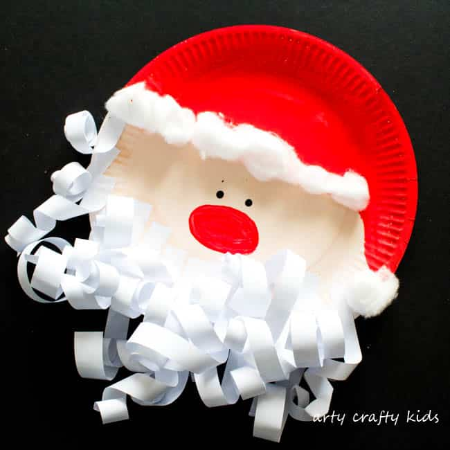 paper plate santa hats craft paper plate santa claus arty crafty 7024