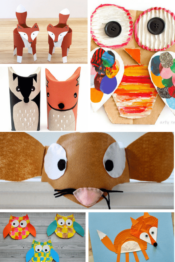 Arty Crafty Kids | Craft | 18 Adorable Forest Animals Crafts for Kids to Make