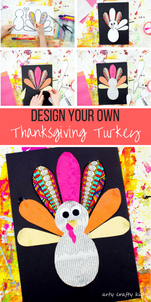 Arty Crafty Kids | Art | Design Your Own Paper Thanksgiving Turkey Craft