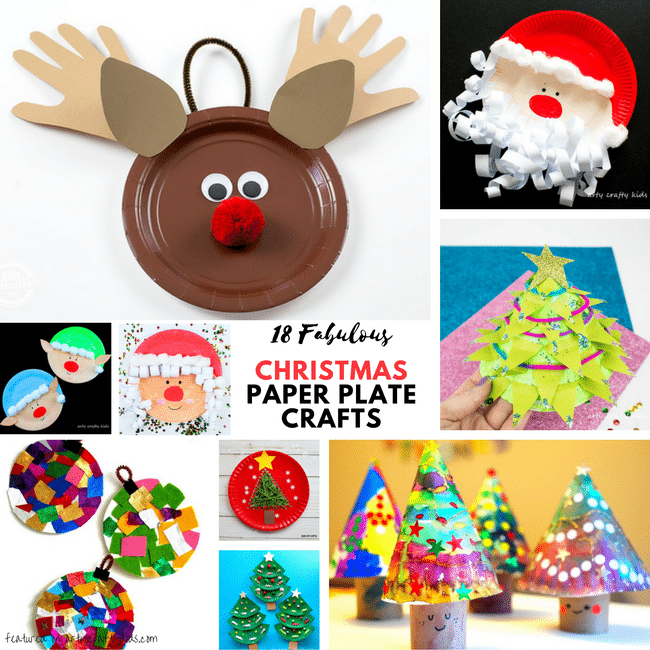 Christmas Crafts For Kids.Fabulous Paper Plate Christmas Crafts Arty Crafty Kids