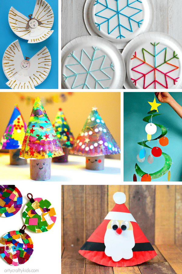 Fabulous Paper Plate Christmas Crafts - Arty Crafty Kids