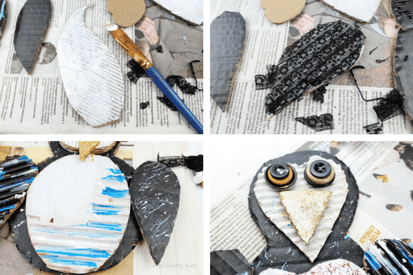 Arty Crafty Kids | Craft | Winter Crafts for Kids | Cardboard Penguin Craft #penguin #wintercraft #kidscraft #easykidscrafts