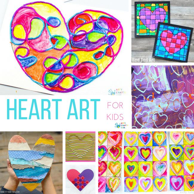 Heart Art Projects Arty Crafty Kids