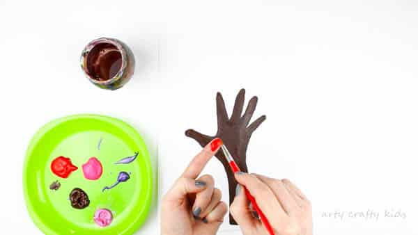 Arty Crafty Kids | Valentines Day Crafts for Kids | Fingerprint Heart Valentines Day Tree art for kids #valentineskidscrafts #handprinttree #valentinescraft