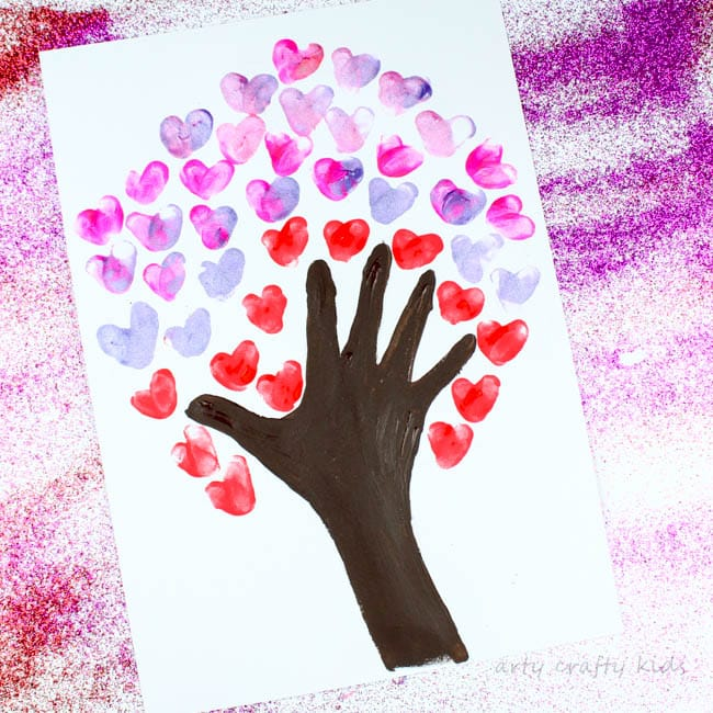 DIY Fingerprint Heart Art for a Quick and Easy Valentine's Day Craft for Kids
