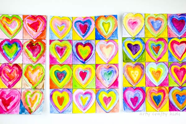 Kandinsky Inspired Heart Art