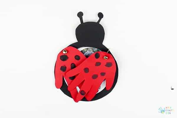 Arty Crafty Kids   Valentines Crafts for Kids   How to make a Love Bug Handprint Card for Valentine's Day