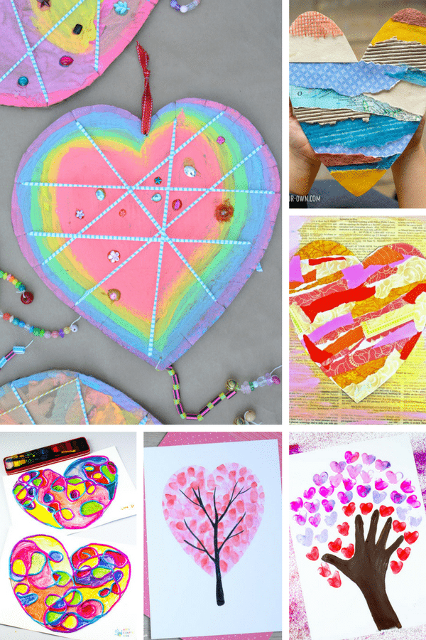 Arty Crafty Kids | Art for Kids | Valentines Heart Art Projects for kids #valentinesday #hearts #kidsart