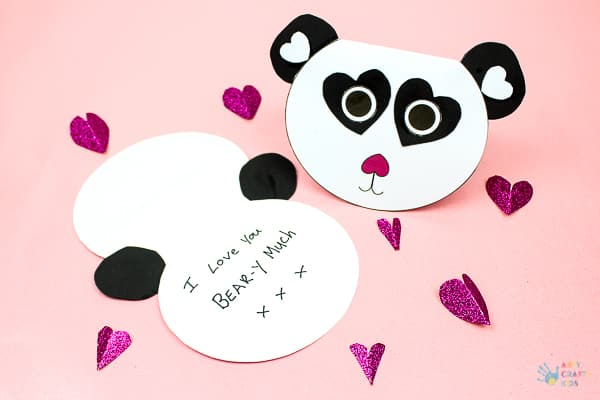 photograph about Printable Love Cards called Adorable Printable Panda Card Arty Cunning Young children
