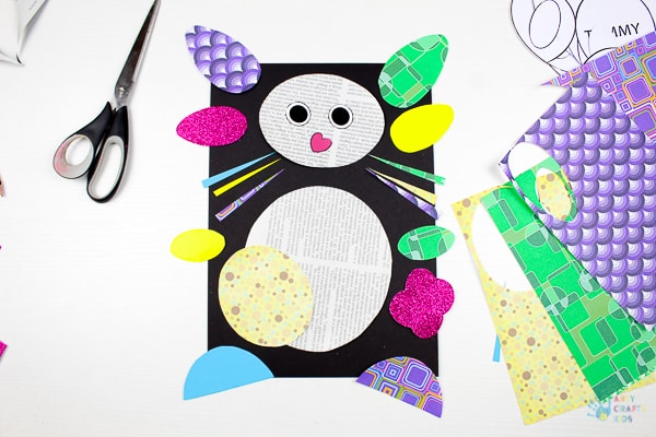 Arty Crafty Kids   Art Ideas for Kids   Paper Bunny Craft for Kids - using the template providing, kids can create a cute bunny using recycled paper. A great craft idea for Spring and Easter #eastercraftforkids #springcraftsforkids #kidscrafts #craftsforkids #eastercrafts