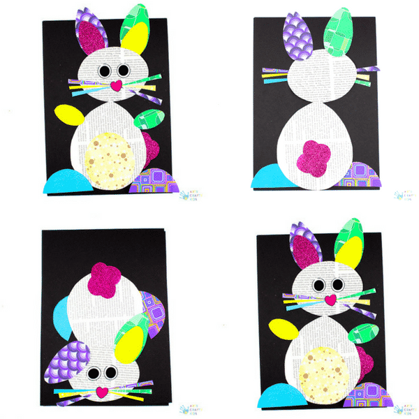 Happy Hoppy Paper Bunny Craft Arty Crafty Kids