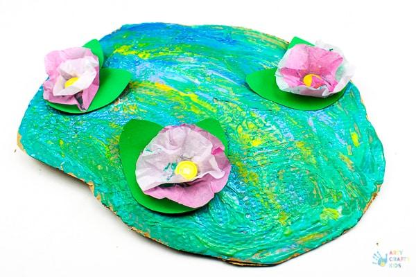 Arty Crafty Kids | Art for Kids | Claude Monet Water Lilies Art Project for Kids #famousartists #kidsart #artforkids #monetforkids