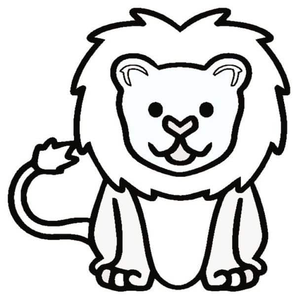 Lion Outline Pdf Arty Crafty Kids You will receive this design in the following sizes: lion outline pdf arty crafty kids