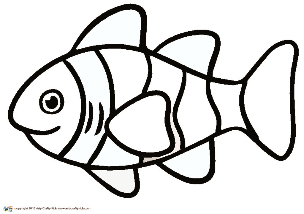 Clown Fish Outline | Arty Crafty Kids