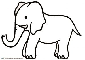 thumbnail of Elephant Outline