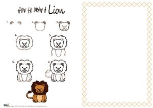 thumbnail of HOW to draw a Lion NEW